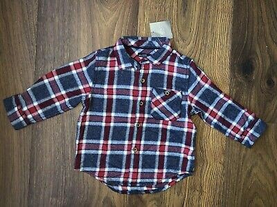 New NEXT Baby Boys Long Sleeved Top Shirt Size 9-12 Months