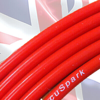 8mm Red Double Silicone suppressed Ignition HT lead, wire on roll,sold per Meter