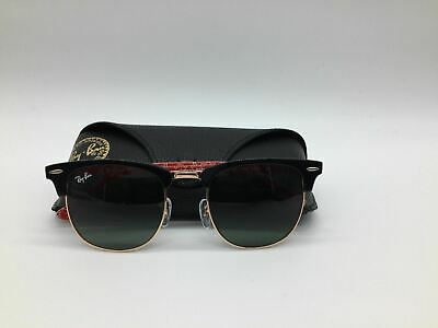 29af8444ec BIN AUTHENTIC NEW Ray Ban Rb 3016 1016 Clubmaster Black 51Mm Lens ...
