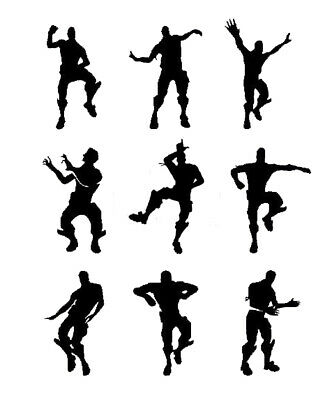 9 X nite xbox dancing men wall stickers SIZE 10CM tall, fort water Bottles ect
