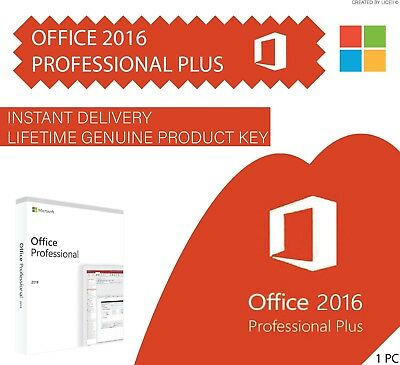 Microsoft OFFICE 2016 Professional Plus I INSTANT DELIVERY OEM LICENSE* 64/32bit