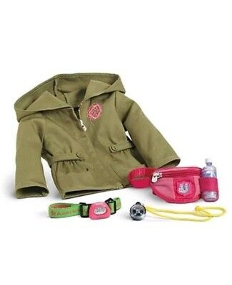 NEW American Girl Doll Hiking Accessories and Jacket Backpack water bottle Lea