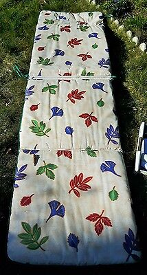 long coussin rectangle transat lit de jardin réversible et déhoussable 185x60+25