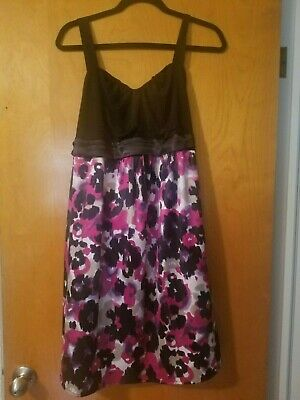 Two Hearts Maternity Size XL Black Floral Dress