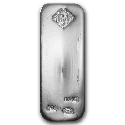 100 oz Silver Bar - Johnson Matthey - SKU #87716