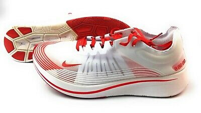 8a8031e051247 Nike Zoom Fly SP Running Race Shoes Mens Size 12 White University Red  AJ9282-100