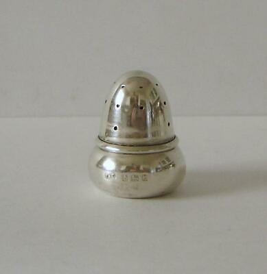 A Novelty Antique Sterling Silver Acorn Shaped Small Pepperette Birmingham 1906