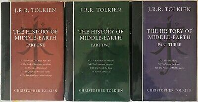 J.R.R. & Christopher Tolkien HISTORY OF MIDDLE-EARTH Complete Volumes Parts 1-3
