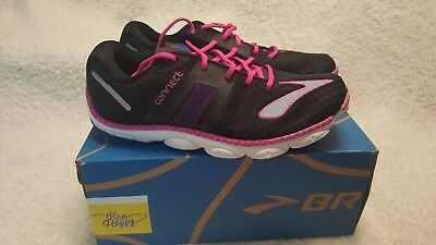 476293ec644ed Brooks PureConnect 4 Womens Running Shoe Size 6.5 B Black Blue Pink Pure  Connect