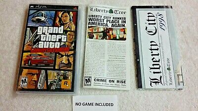 Case & Manual Map Only GRAND THEFT AUTO Liberty City Stories Sony PSP no Game