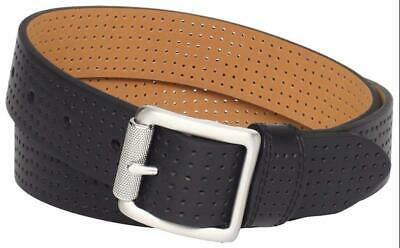 e836c9789e Nike Golf Womens Perforated Leather Belt Brushed Buckle XS Black FAST SHIP!  A5