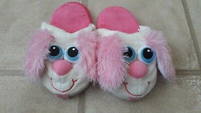 Cute Girls Stompeez Puppy Dog Slippers Adult Size 3-4