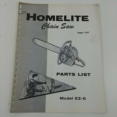 HOMELITE VI-123 CHAIN SAW PARTS MANUAL chainsaw - $11 99