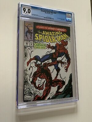 Amazing Spider-Man #361 (Marvel, 1992) CGC 9.0 White pages 1st Carnage new case