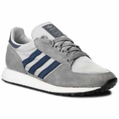 official photos 67b23 74ad3 Adidas Forest Grove Mens Suede Trainers Grey