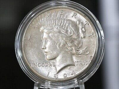 1924-S Peace Silver Dollar 90% Silver, No Reserve & Free Shipping!