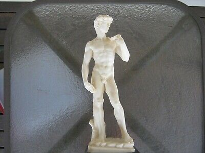 Good Quality Vintage ceramic & Marble  Statue of David made in italy by santini