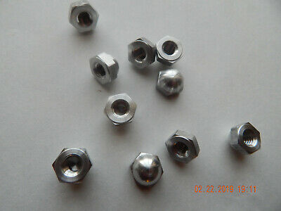 Aluminum Acorn-Cap Nuts.  5/16-18 10 Pcs. New
