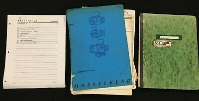 Hasselblad Mixed Lot of Diagrams, Service Letters & Parts Lists - Various Pieces