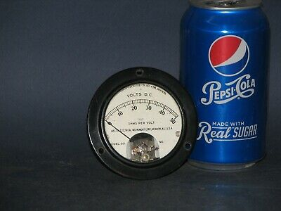 DC Volt Gauge Analog WESTON ELECTRIC 0 to 50 Volts fit in 2.5 in. round opening