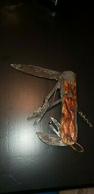WW2 JAPANESE ●RARE MULTI USE POCKET KNIFE ●  collectible antique