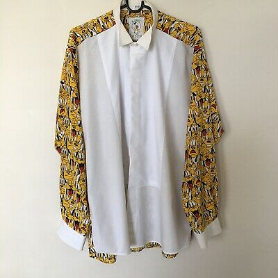 Vintage Retro Rare Men's Disney Mickey & Co by Oyster Pluto Button Up Shirt