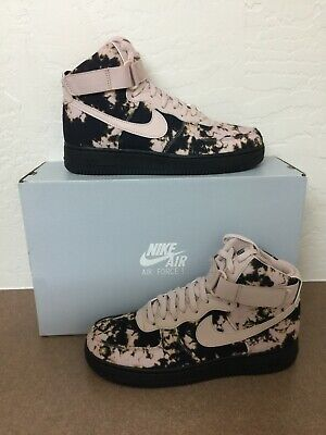 outlet store 5ae76 73426 Nike Air Force 1 High Print Acid Wash Men s Beige Black Shoes AR1954-001 Siz