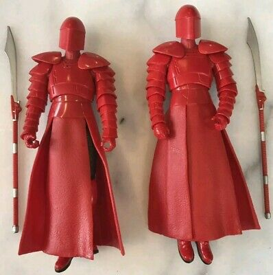 "Star Wars LOT OF 2 The Black Series Elite Praetorian Guard 6"" Loose Complete NEW"
