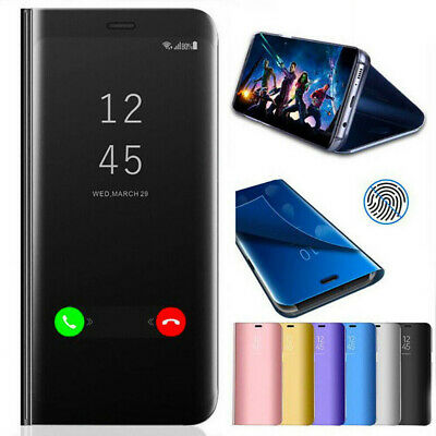 For Samsung Galaxy S9 + Plus Note 9 Smart View Mirror Flip Stand Case Cover CA
