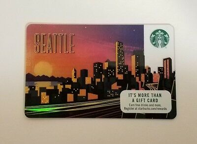 Starbucks Seattle City 2017 gift card.  NEW - PIN INTACT
