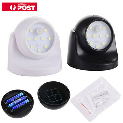 360° Battery Operated Indoor Outdoor Garden Motion Sensor Security Led Light