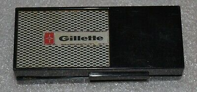 Vintage Gillette  Safety Razor Adjustable Techmatic & Plastic Case Free Shipping