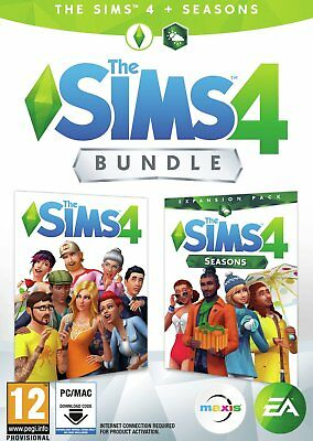 The Sims 4 and Seasons Expansion Bundle PC Game 12+ Years