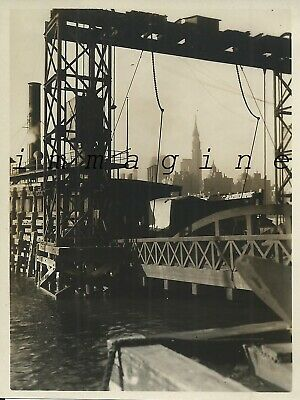 Original photograph New York, Railway Ferry 1930ca.