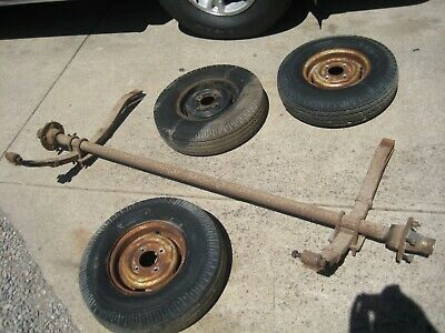Trailer Axle Springs and 3 x Wheels