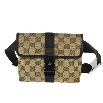 c3ebb630961a E68 GUCCI Authentic Waist Pouch Bumbag Belt Bag Fanny Pack Cross Body  Vintage