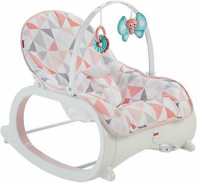 Fisher Price Infant To Toddler Rocker Bouncer Pink Windmill Baby Seat Gift New