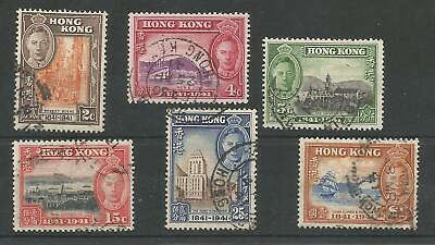 Hong Kong Sg163-8 The 1941 Gvi Cent Of British Occupation Set Fine Used Cat £30