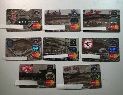 8 Expired Credit Cards For Collectors - Cooperstown Collection Lot 1 Rare