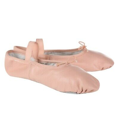 Pink Leather Ballet Shoes Full Sole