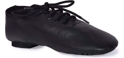 Split Sole Jazz shoes Black leather