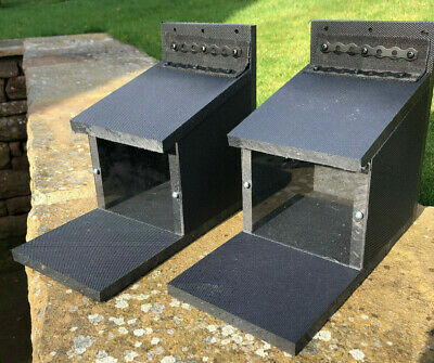 2 X Squirrel Feeder Boxes New  100% Recycled Plastic All Proceeds To Charity