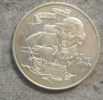 Gibraltar 1980 Lord Nelson Coin Crown  Nice aUNC/UNC