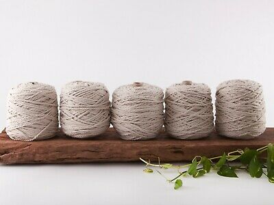 5mm natural macrame rope coloured 3 ply cotton three strand cord bulk wholesale