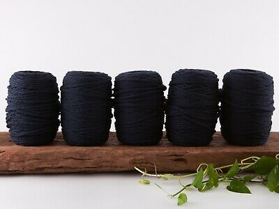 5mm navy macrame rope coloured 3 ply cotton three strand cord bulk wholesale