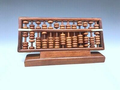 Chinese Old pure hand-carved agalloch eaglewood wood abacus statues