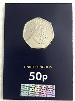 2019 Royal Mint UK - The Gruffalo Fifty Pence 50p Coin BU Change Checker Card
