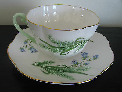 Shelley China Harebell & Grasses Tea Cup and Saucer