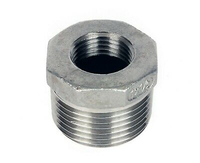 "Stainless Steel (316) Reducing Bush Threaded BSP Pipe Fittings  Sizes 1/8"" To 2"""