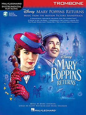 Hal Leonard Corp-Mary Poppins Returns For Tromb (US IMPORT) CD NEW